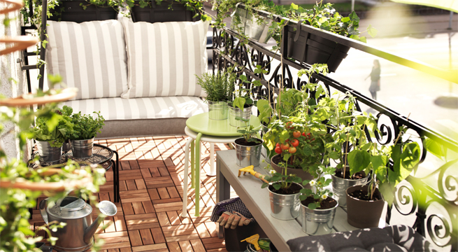 Un jard n en el balc n for Jardin vertical en balcon