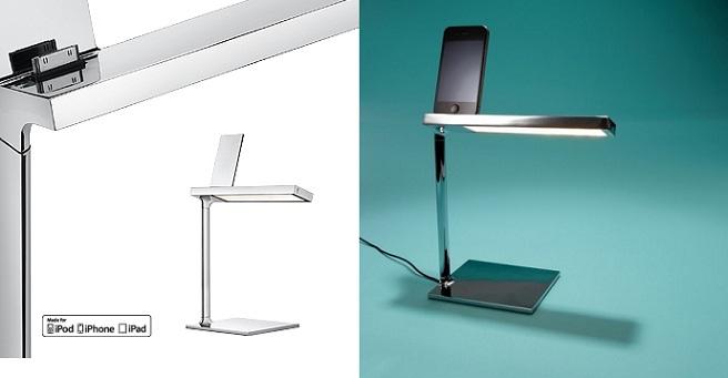 L mpara de escritorio con dock para iphone ipod - Lamparas de escritorio ...