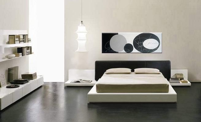 Decorar un dormitorio de color negro for Color de pared para dormitorio