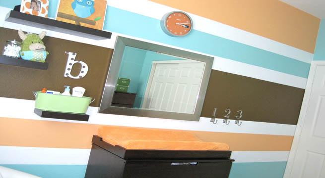 Paredes a rayas horizontales - Pintar pared a rayas horizontales ...