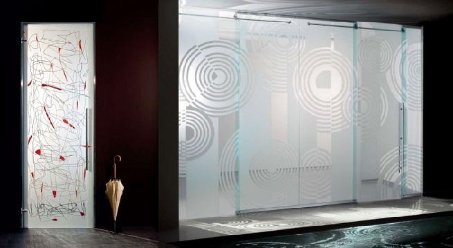 Decorar con puertas de cristal for Cristales decorativos para puertas de interior