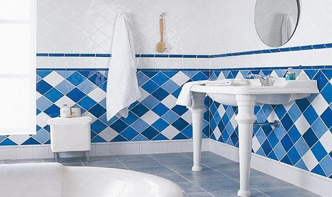 Decorar el cuarto de ba o de color azul - Banos con azulejos azules ...