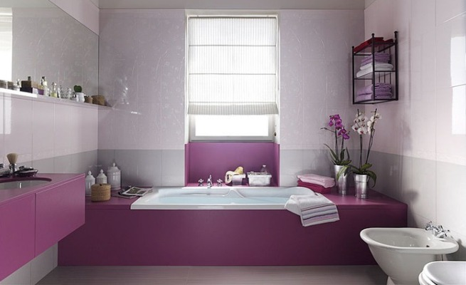 Decorar Un Baño Gris:Decorar el cuarto de baño de color rosa