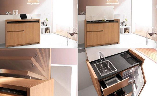 Una mini cocina para los pisos peque os for Muebles piso pequeno