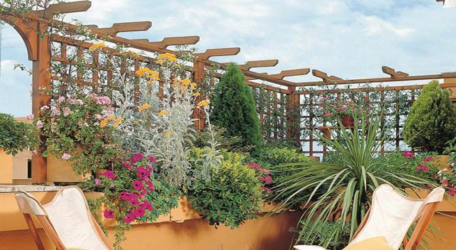 Cerrar espacios con celos as - Celosia de madera para jardin ...