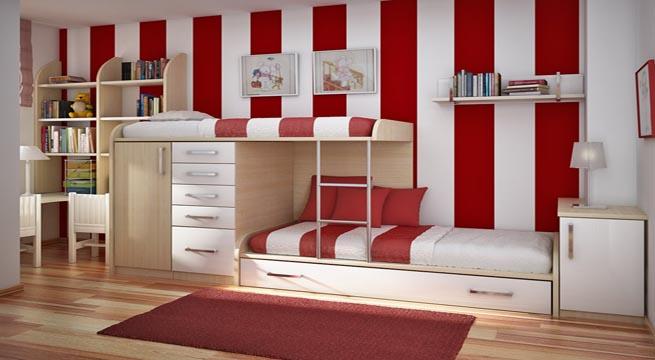 Habitaciones juveniles decoradas con rayas - Habitaciones pintadas con rayas ...