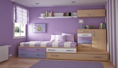 Habitaciones juveniles decoradas con rayas for Habitaciones juveniles barcelona