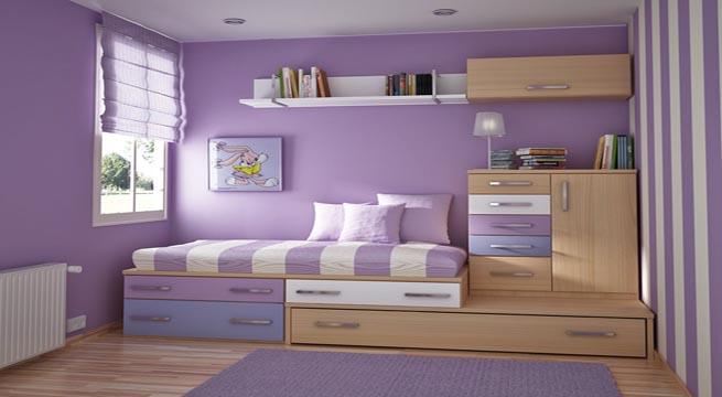 Habitaciones juveniles decoradas con rayas for Imagenes de habitaciones decoradas