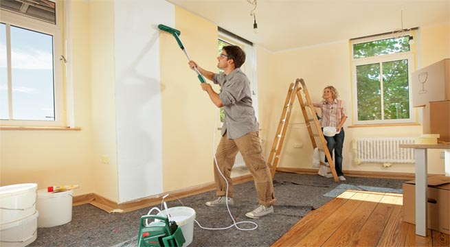 Pintar paredes con rodillo el ctrico - Tipos de pintura para paredes ...