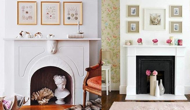 C mo decorar una chimenea en verano for Chimeneas decoracion hogar
