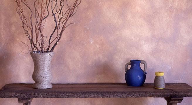Pintura difuminada para paredes for Pintura plateada para pared