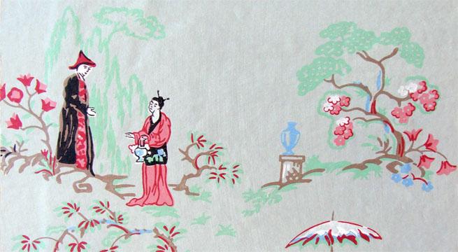 papel pintado de estilo japon s