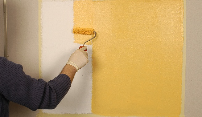 pintar las paredes con estuco mate