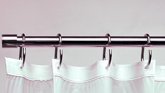 Cortinas De Baño Lindas:Elegir las barras o rieles de las cortinas