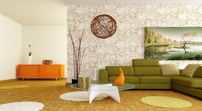 Salones blancos tres propuestas - Color ocre paredes ...