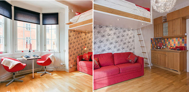 Un apartamento de 20 metros cuadrados for Comedor 20 metros cuadrados