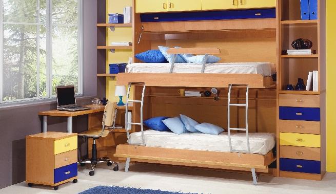 Camas para ahorrar espacio en el dormitorio - Dormitorio para dos ninos ...