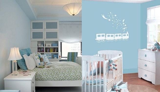 Decorar un dormitorio en color azul claro - Habitaciones de color azul ...