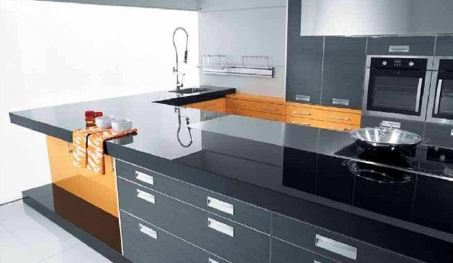 Bonito tipos de cocina fotos cocina con dos tipos de for Muebles tipo isla para cocina