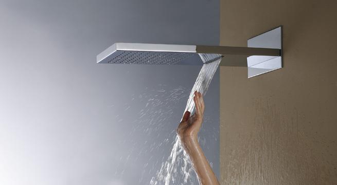 Duchas con efecto cascada y lluvia for Ducha efecto lluvia