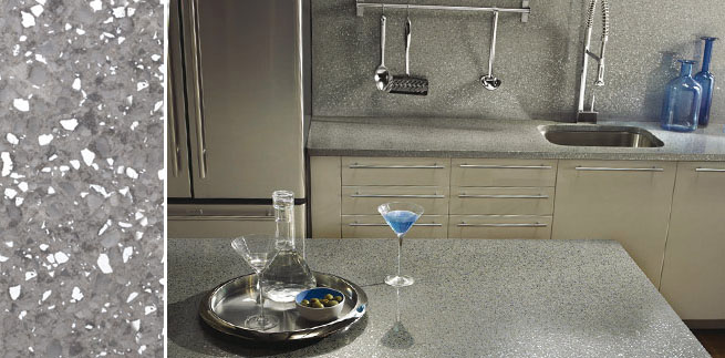 Encimeras de cuarzo en nuevos colores - Nuevos materiales para encimeras de cocina ...