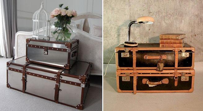 Decorar habitaciones con maletas for Maletas vintage decoracion