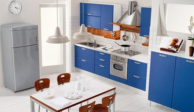 Decorar la cocina de color azul