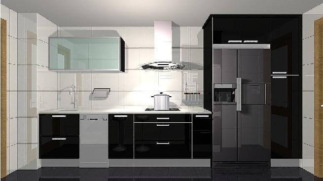 Decorar la cocina de color negro for Muebles de cocina modernos color blanco