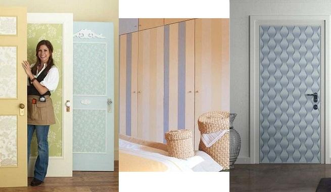 Decorar las puertas con papel pintado - Decorar muebles con papel ...