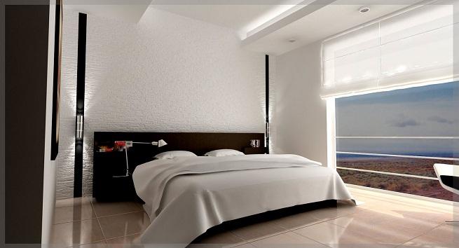Decorar un dormitorio en blanco y negro for Dormitorio gris y negro
