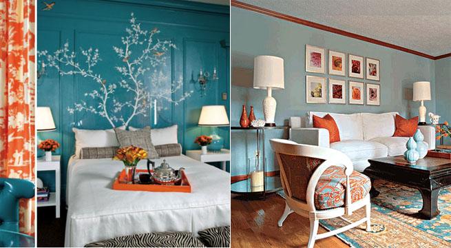 Decorar con colores complementarios - Tonos de azul para pintar paredes ...