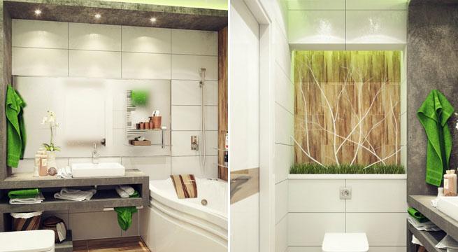 Baño gris pequeño: c mo decorar un ba o mini. ba o peque o en ...