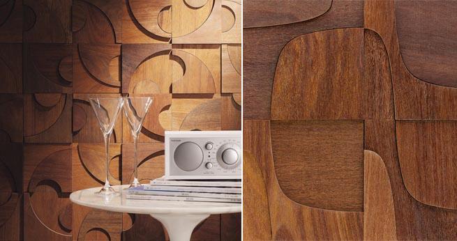 Revestimientos de madera estilo a os 70 - Revestimiento de paredes interiores en madera ...