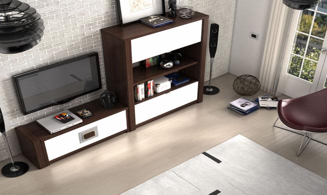 C mo decorar con muebles oscuros for Color salon muebles oscuros