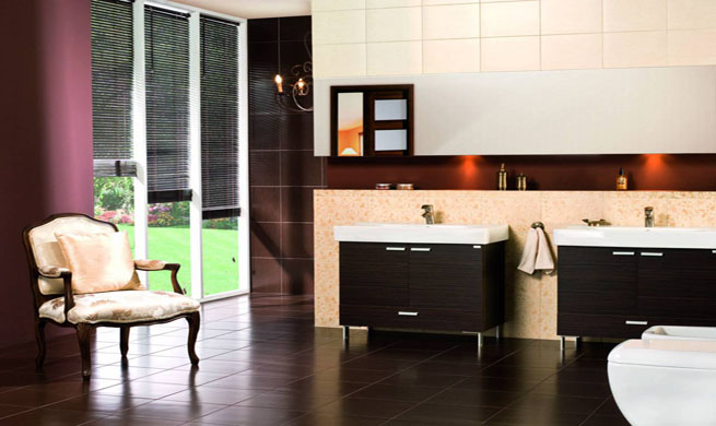 Decorar Baños Oscuros:Cómo decorar con muebles oscuros