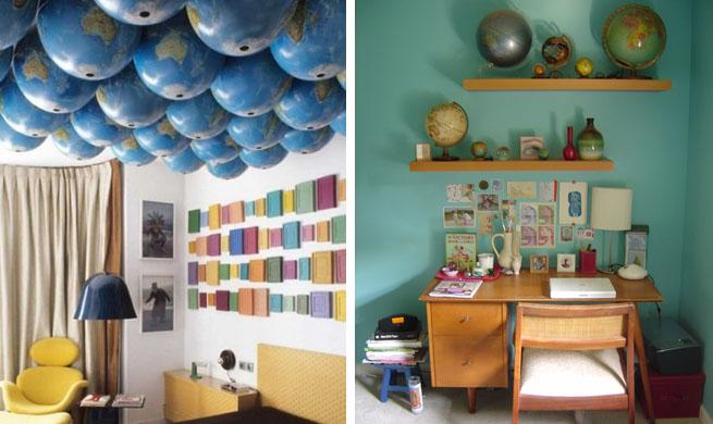 Decorar con bolas del mundo - Decoracion casas americanas ...