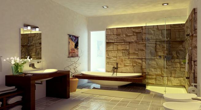Ideas para ba os de inspiraci n zen for Banos de madera y piedra