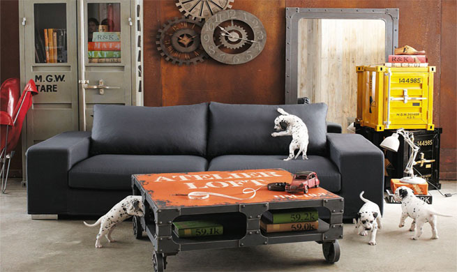 colecci n industrial retro de maisons du monde. Black Bedroom Furniture Sets. Home Design Ideas