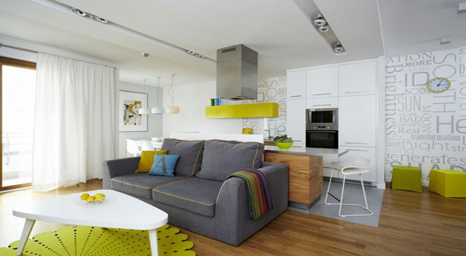 Кухня гостиная студия фото дизайн