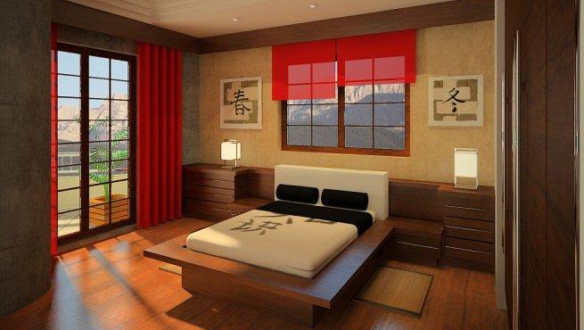 Camas de estilo oriental for Dormitorios zen fotos