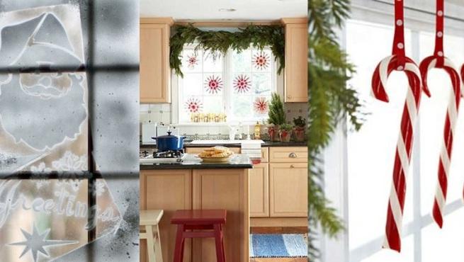 Decorar las ventanas en navidad - Como decorar un salon en navidad ...