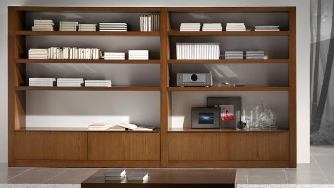 si quieres una librera de cuerpo entero para aprovechar ms el espacio elige una que pueda ocuparte toda la pared y delante de ella pon algn elemento que