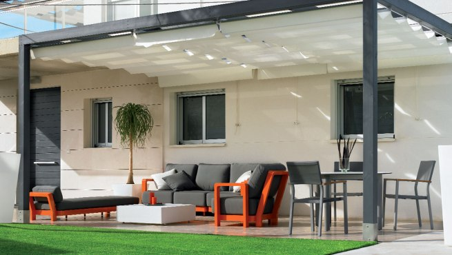 Decoracion mueble sofa telas para pergolas for Piscinas alcampo online