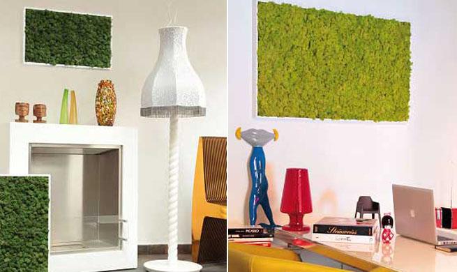 Cuadros de musgo para decorar paredes for Placas decoracion pared