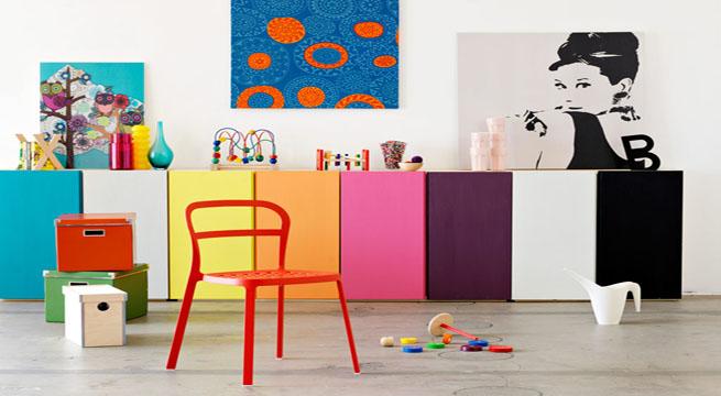 Decorar con muebles de colores - Colores de muebles ...