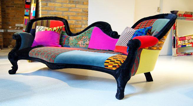 Decorar con muebles de colores - Sofas clasicos de tela ...
