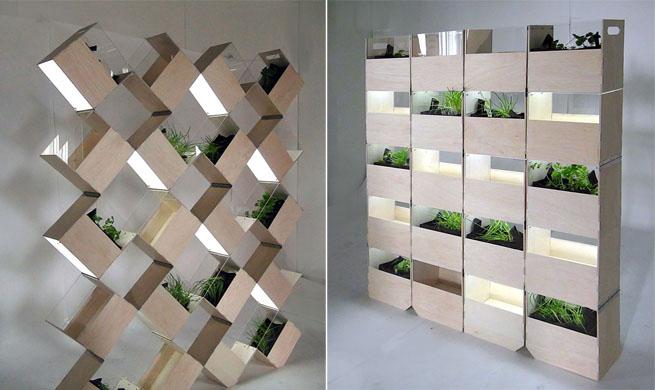 Separar espacios con jardines interiores for Pisos pequenos modernos
