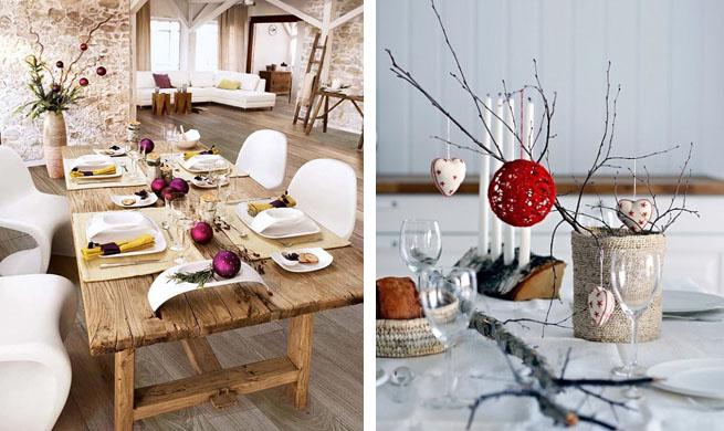 C mo decorar una mesa r stica en navidad - Como adornar una mesa para navidad ...