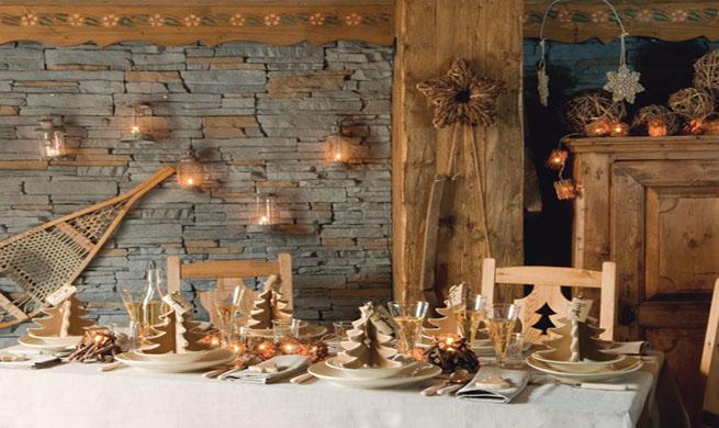 C mo decorar una mesa r stica en navidad for Decoracion navidena rustica