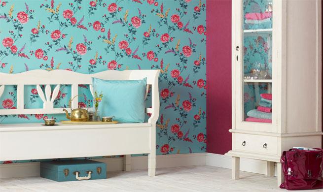 Papel pintado atrevido c mo utilizarlo - Fotos de salones pintados ...